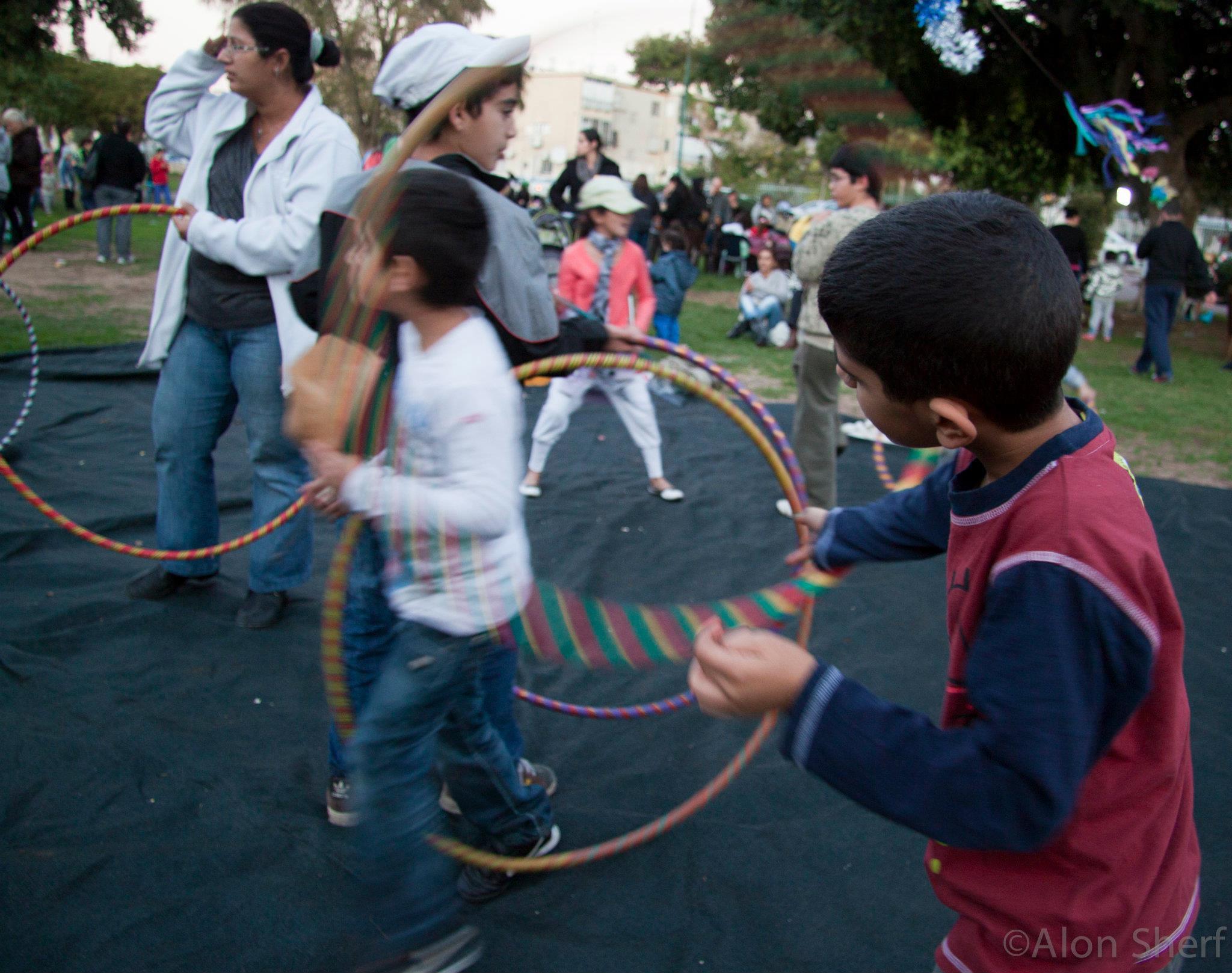 ילדי מאהל התקווה בפסטיבל אלטרנטיבי
